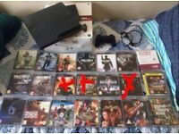 PS3 120gb includes everything in the picture excluding Xd out games