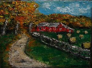 """Original Painting """"Knife Painted Fall Landscape"""" For Sale"""