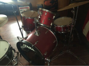 Pearl drum set and Tama drum set in excellent condition
