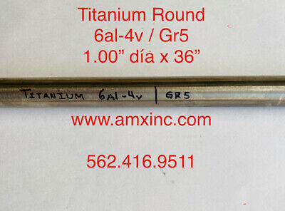 Titanium Round Bar 6al-4v 1.00 Dia X 36 Long