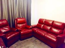Real leather lounge suite $400ono Baldivis Rockingham Area Preview