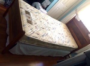 Antique Bed with Mattress