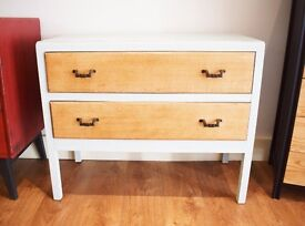 Oak - Duck Egg Chest of Drawers