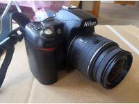 Nikon D D70s 6.1MP Digital SLR Camera - Black (Kit with Lens, charger, 2 batteries, remote and bag.