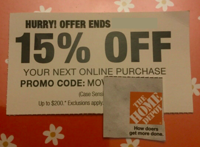 15 Off Home Depot Coupon - Save Up To 200 Exp. 2/7/2021 - $36.00