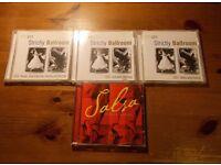 4 cds for ballroom & latin dance. All 4 cds for £3