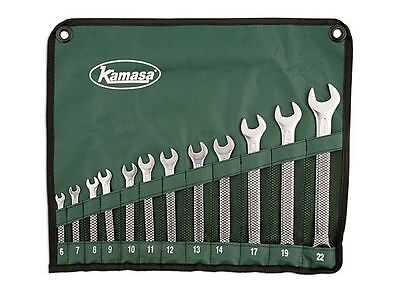 SUPER! KAMASA 12 PIECE METRIC 6mm > 22mm SPANNER WRENCH SET + ROLL