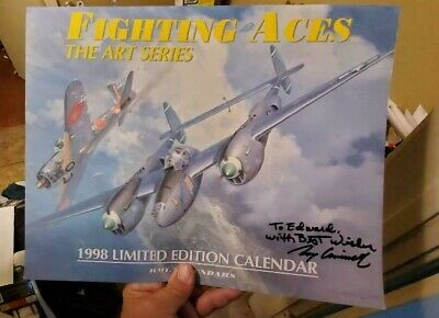 fighting  aces the  art  series calendar 1998 signed  by  roy grinnell
