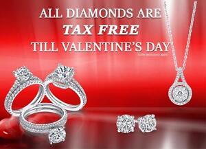 ALL DIAMONDS - TAX FREE! Till Valentine's Day - Rings, Earrings, Pendants etc..