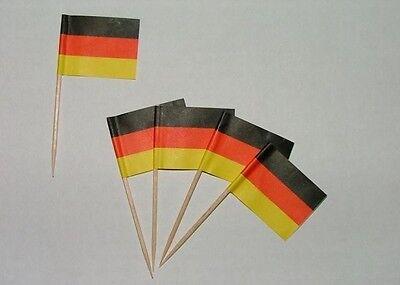 Flaggen Zahnstocher Deutschland Fahne Flagge Minipicker Partyzahnstocher
