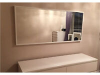 White framed large Mirror. Excellent condition, very large wall mirror. As good as new!