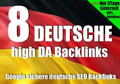 8 Deutsche Backlinks High DA PR SEO Linkaufbau Manuell Suchmaschinenoptimierung