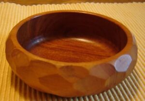 Mid century modern solid teak bowl West Island Greater Montréal image 1
