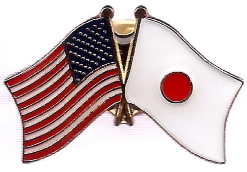 LOT OF 12 Japan Friendship Flag Lapel Pins - Japanese Crossed Flag Pin