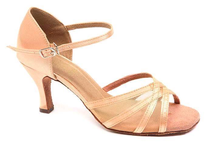 ROCH VALLEY APHRODITE TAN SALSA LATIN DANCE SHOES - SIZE 5 - BRAND NEW IN BOX