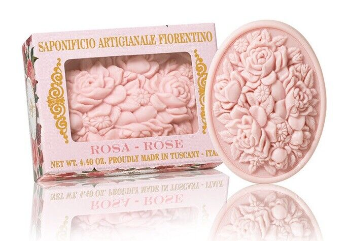 Rose Duftseife 125g Luxus Seifenstück Toskana Stückseife Pflanzenölseife