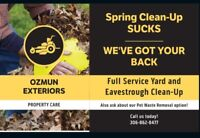 OZMUN EXTERIORS Spring Cleanup, Power Rake and Eavestrough Clean