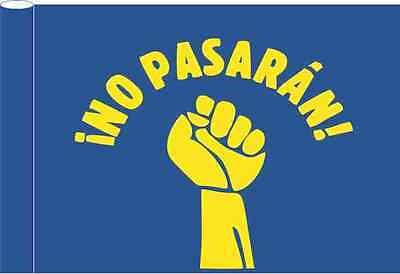Flagge blau Motiv No Pasaran gelb 100x150 cm