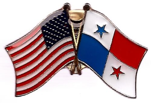LOT OF 12 Panama Friendship Flag Lapel Pins - Panama Crossed Flag Pin