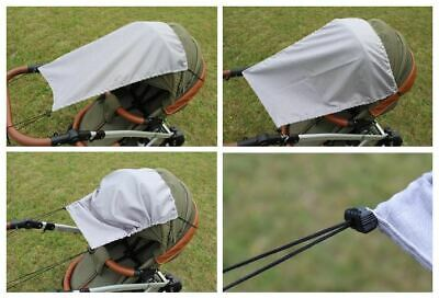 Baby Hood Sun Shade UV Protection Fits Prams and Pushchairs