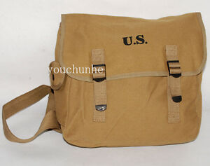 WWII-US-ARMY-M1936-M36-MUSETTE-FIELD-BAG-BACK-PACK-HAVERSACK-31808