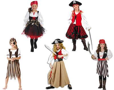 Piratin Pirat Kleid Weste Rock Kinder Karneval Fasching Kostüm 104-152