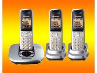 Panasonic KX-TG6421E Digital Cordless Phone With Answering Machine TRIO