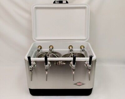 54qt Stainless Steel 4 Tap Jockey Box W 75 Coils Stainless Faucets And Shanks