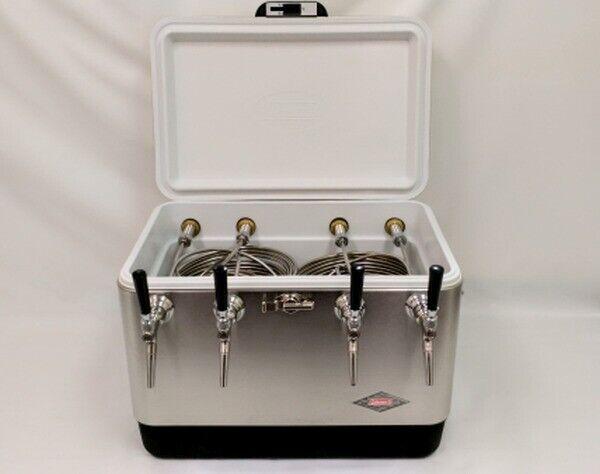 54qt Stainless Steel 4 Tap Jockey Box w/ 75