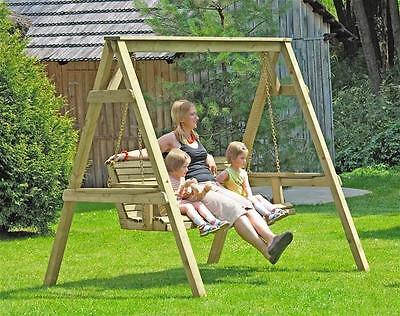 Hollywoodschaukel / Gartenschaukel Holz 190x164x198 cm