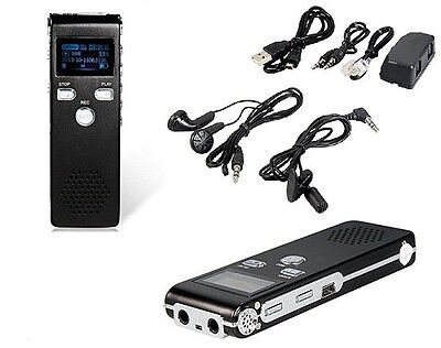 MINI REGISTRATORE DIGITALE 8 GB USB VOCALE TELEFONICO SPIA VOX RICARICABILE SC0