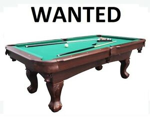 Pool Table , Will Come and Remove