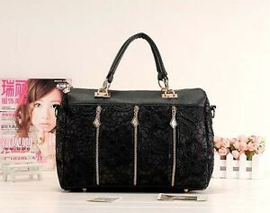 Hot New Women Oblique Carry Casual Medium Retro Lace Bag Lady Handbags Purses