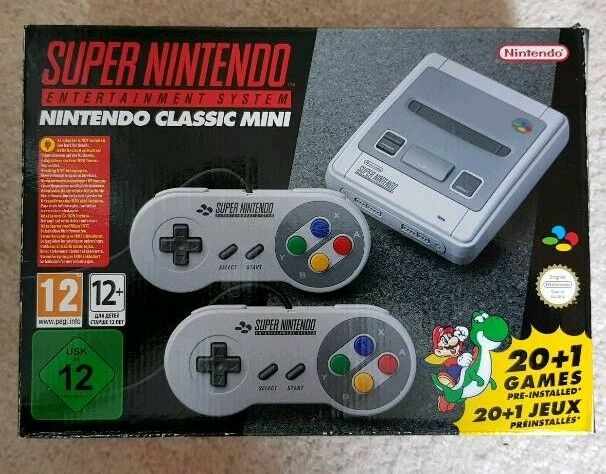 Mini Snes Classic Console - Like New (used once)
