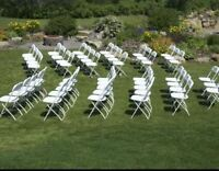 White Folding Chairs And Tables *Calgary Party Rentals