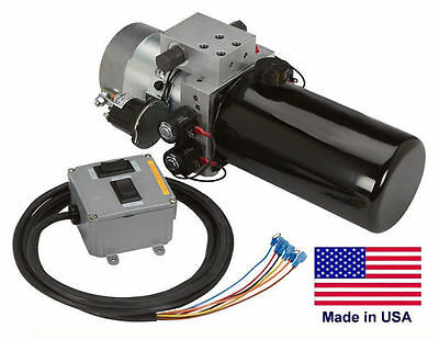 Snow Plow Control Unit Universal - 4 Way Valve System - Solenoid Operated