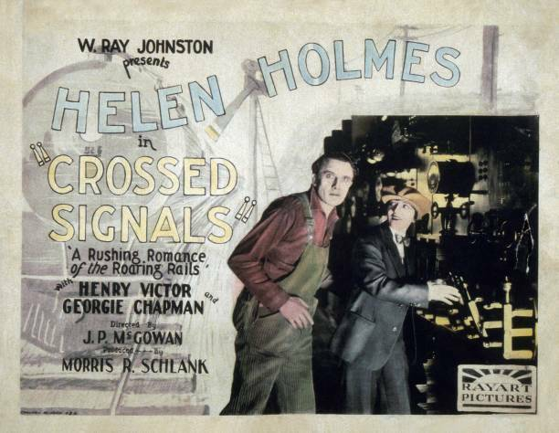 OLD MOVIE PHOTO Crossed Signals Lobby Card Helen Holmes 1926