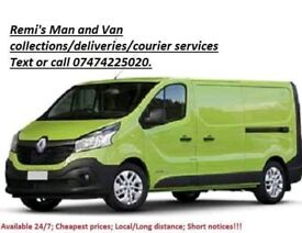 Man and Van courier/collections/deliveries services