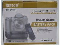 canon D750 Battery Grip - Meike MK-DR750 MB-D16 Built-In 2.4G Wireless control