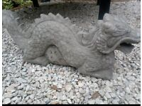 New Large DRAGON'S Homemade Concrete Garden Statues
