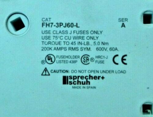 SPRECHER+SCHUH FH7-3PJ60-L FUSE HOLDER