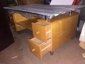 Glass top table £40 ONO
