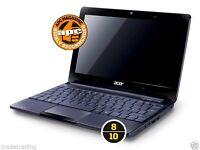 Fast Windows 7 acer netbook Laptop Intel CPU Warranty Cheap Office WiFi