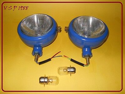 Ford Tractor Head Light Set Lh Rh - 12 V Blue
