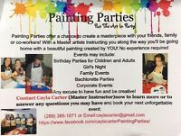 Painting Parties With Master Artist Cayla Carter, Book today!
