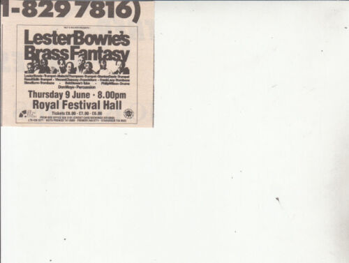 LESTER BOWIE : Royal Festival Hall 1988 - small CONCERT ADVERT
