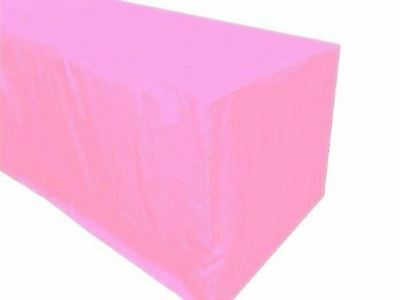 6 Ft. Fitted Polyester Tablecloth Trade Show Booth Banquet Table Cover Pink