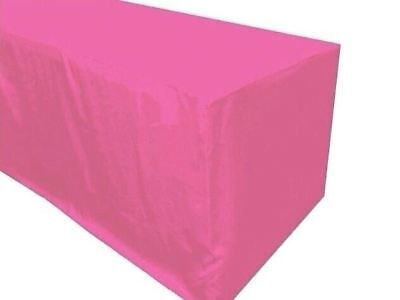4 Ft. Fitted Polyester Tablecloth Trade Show Booth Party Table Cover Pink
