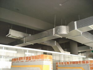 Mississauga HVAC Installations, Duct worker looking 4 side work.