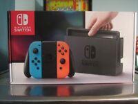 NEW Nintendo Switch NEON & GREY UK genuine